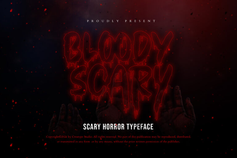 Preview image of Bloody Scary Horror Typeface
