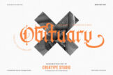 Last preview image of Obituary Decorative Gothic