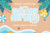Last preview image of Sunday Morning Quirky Typeface
