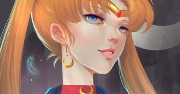 Sailor Moon (fan art) color process by Uliel