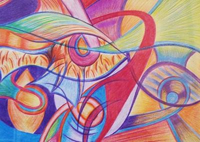 Creayv | Tekening | Abstract | Vissen | Kleurpotlood | 2010