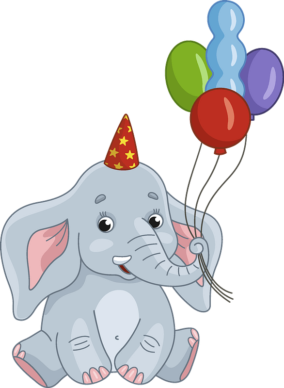 Elephant Clipart : elephant, clipart, Birthday, Elephant, Clipart., Download, Transparent, Creazilla