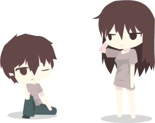 Brown Haired Boy and Girl clipart Free download transparent PNG Creazilla