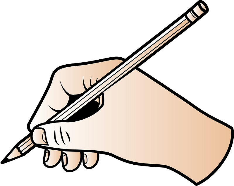 Hand With Pencil Clipart Free Download Transparent Png Creazilla