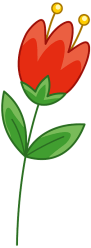 Red flower clipart Free download transparent PNG Creazilla