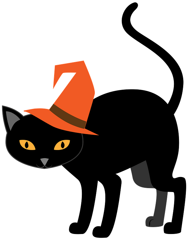 Black Cat Clip Art Free : black, Halloween, Clipart., Download, Transparent, Creazilla