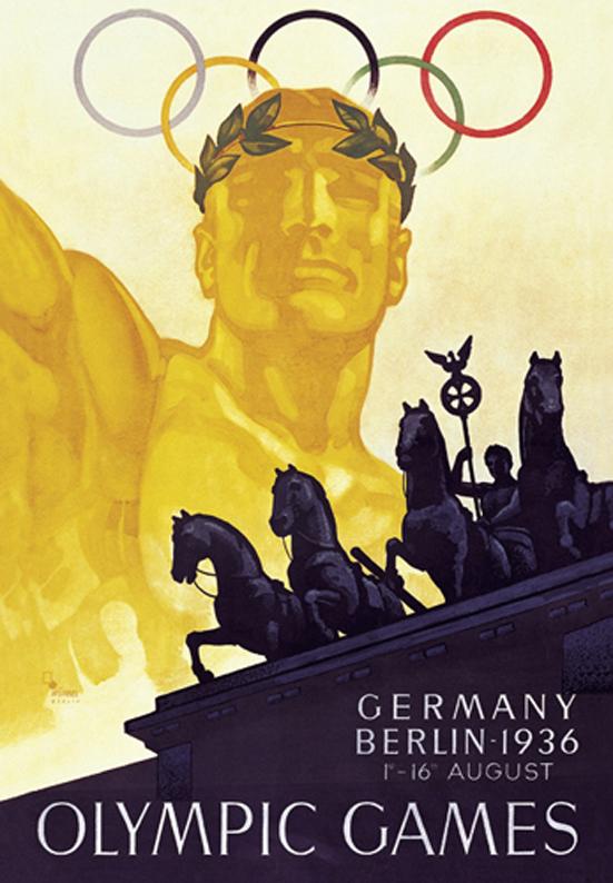 Cartel de los Juegos Olímpicos de Berlín, 1936