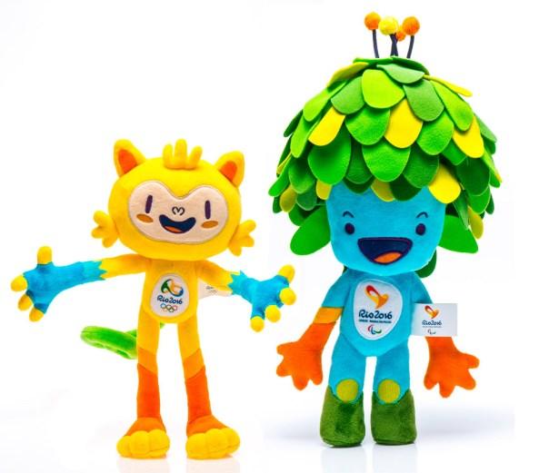 Vinicius y Tom, las mascotas de los Juegos Olímpicos de Río, 2016