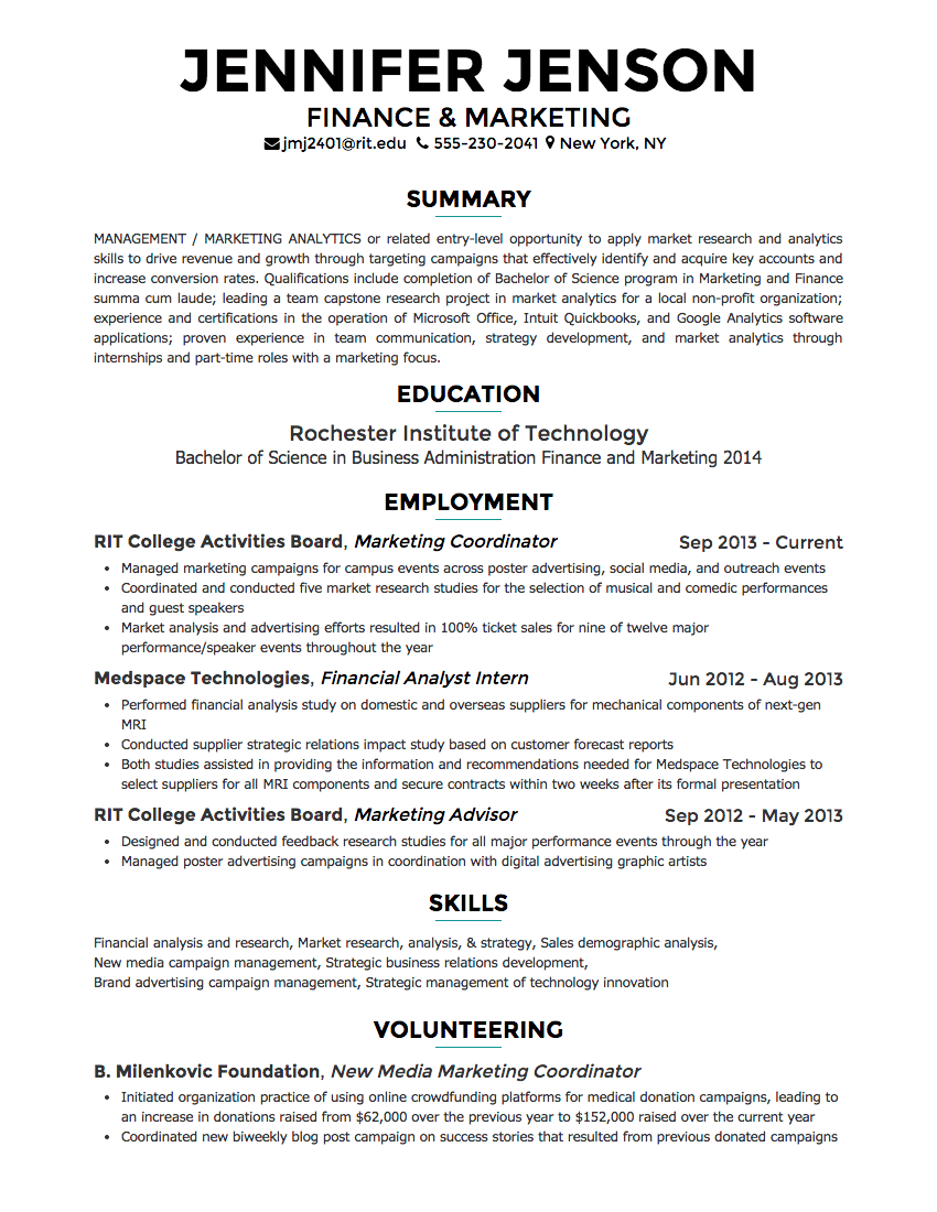 Engineering Resume Builder Creddle
