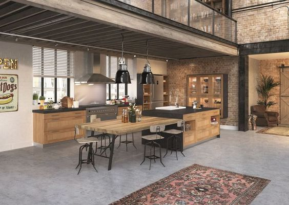 cuisines de style industriel