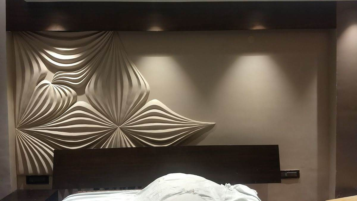 3D wall clay mural abstract