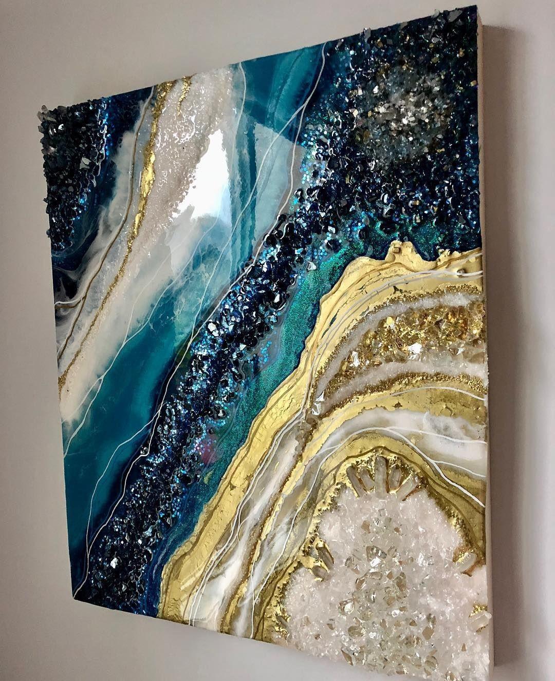Resin geode art