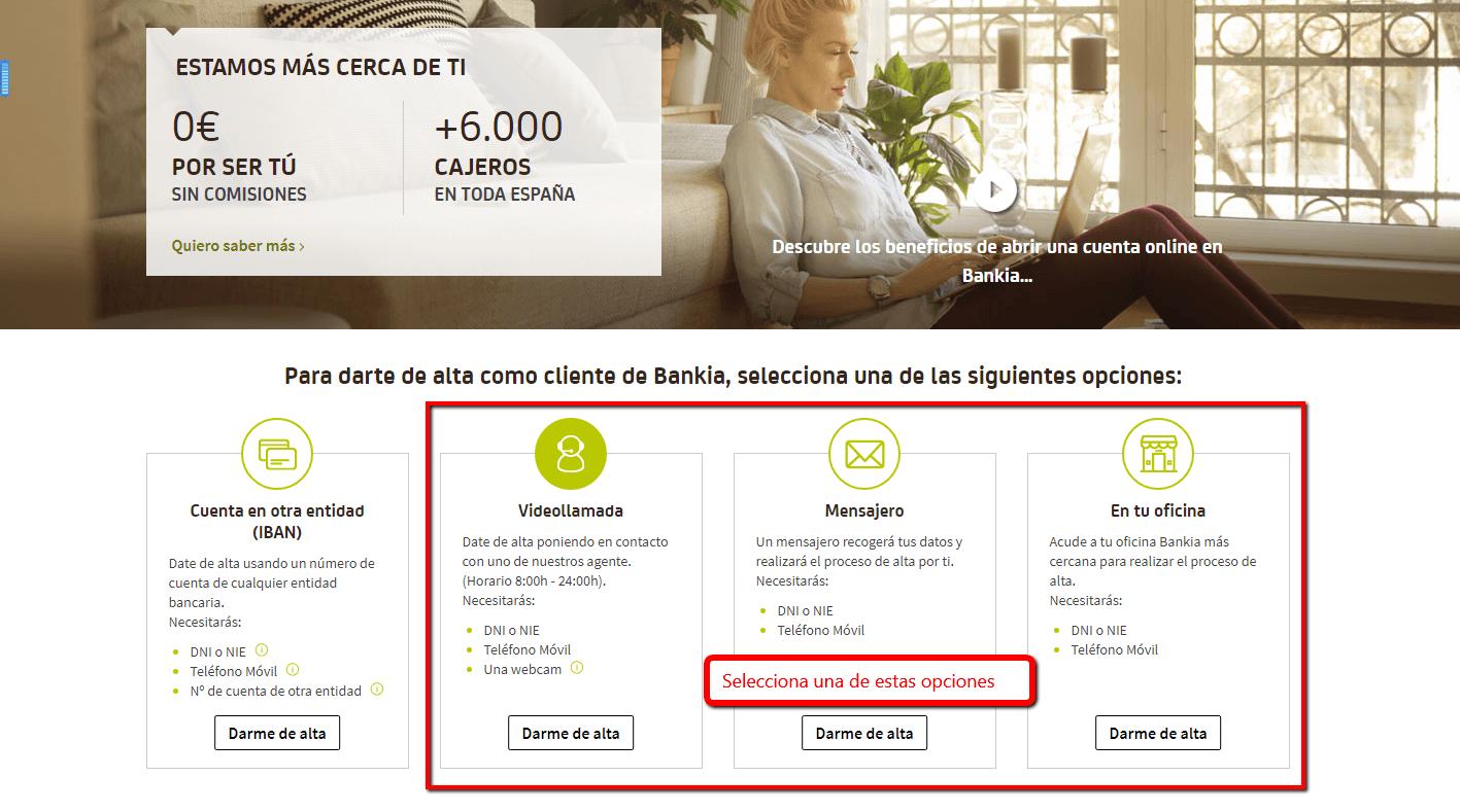 Crear cuenta bancaria online dating