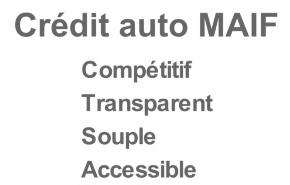 crédit auto maif