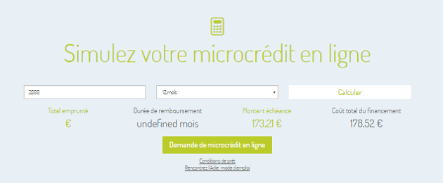 simulation microcrédit ADIE