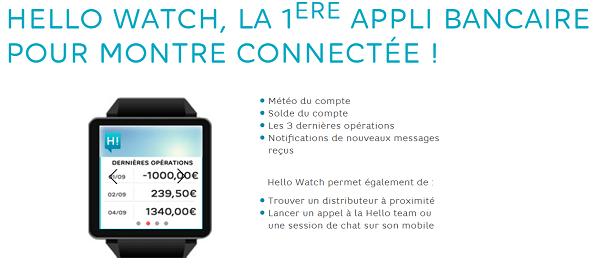 Hello Watch sur ma montre connectée
