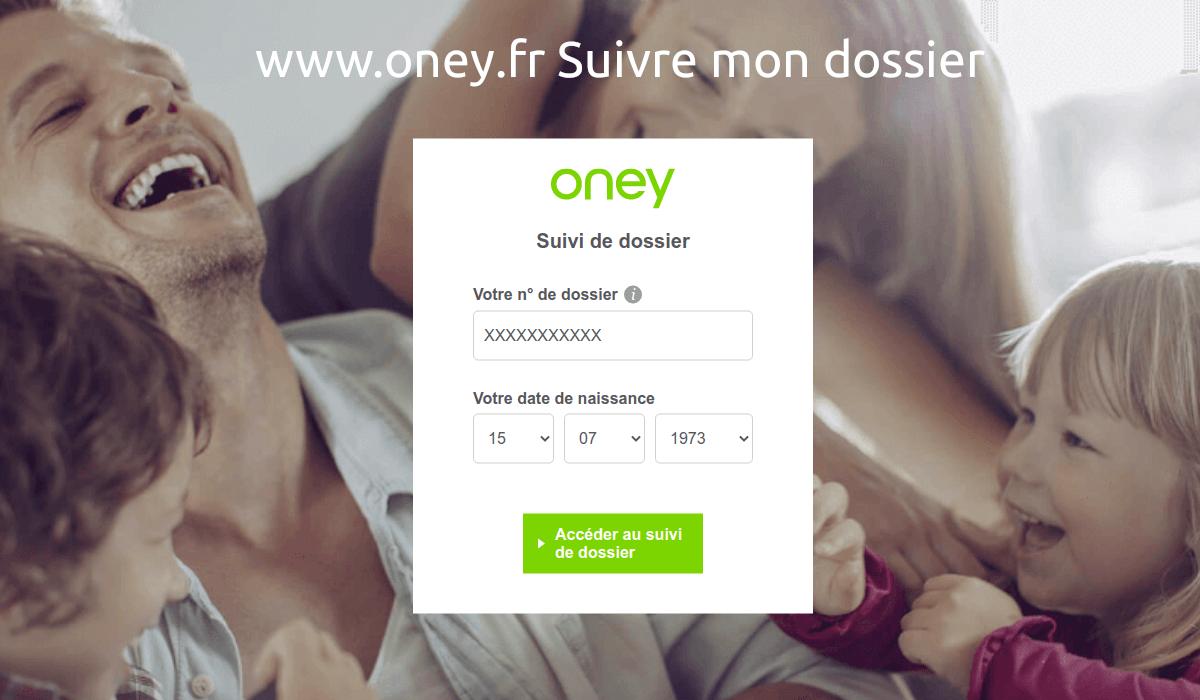 www.oney.fr Suivre mon dossier Oney