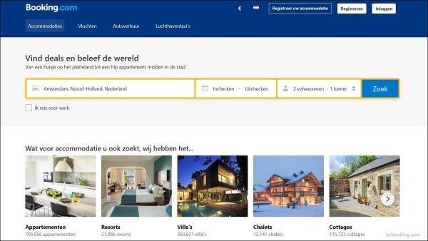 betalen bij Booking.com met American Express