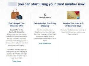American Express Delta Credit Card Bonus