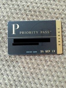 Priority Pass Select membership card