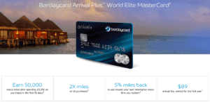 Barclaycard Arrival Plus sign-up Bonus