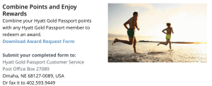 Transferring Hyatt Gold Passport points