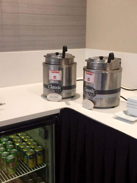 Soup at the Lounge at Boston Logan Airport