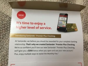 Targeted Santander Offer