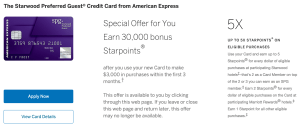 Starwood Amex 30,000 point offer