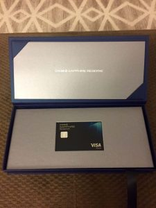 Chase Sapphire Reserve in Box