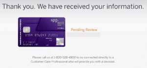 SPG Business card from American Express