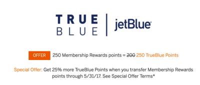 JetBlue Transfer Offer