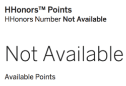 hilton amex points not available