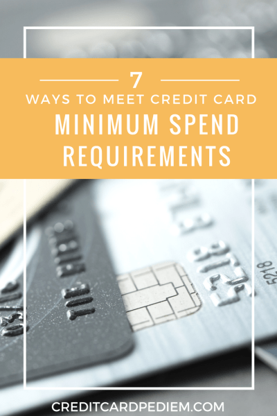 Ways to Meet Credit Card Minimum Spend Requirements