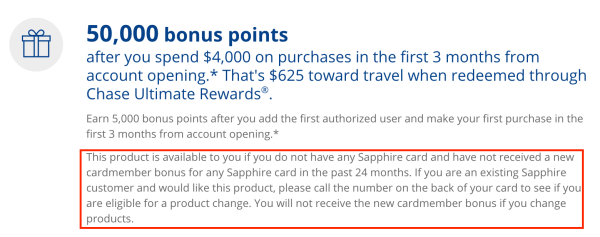 chase sapphire restrictions