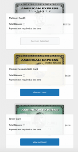 America Express cards