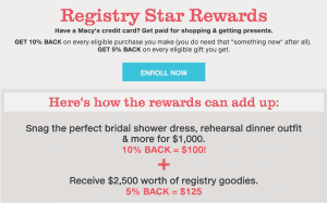 Macy's Registry Rewards