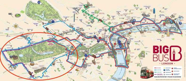 BIg Bus London Map