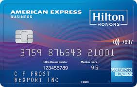 hilton honors business amex