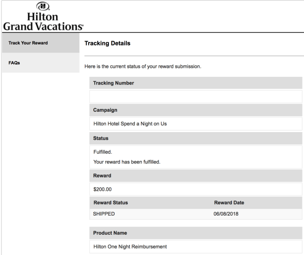 Hilton Grand Vacation Rebate Offer