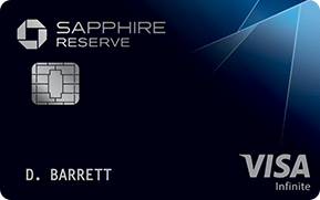 Chase Sapphire Reserve (Registered Trademark) credit card