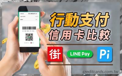 【行動支付】街口、LINE Pay、Pi 拍錢包聯名信用卡優惠比較,刷這些信用卡回饋最高|信用卡 行動支付