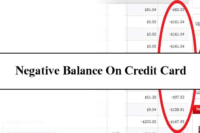 negative balance on credit card