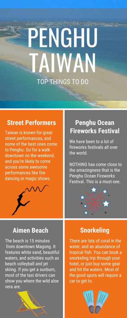 Things to do in Penghu (Taiwan) Infographic