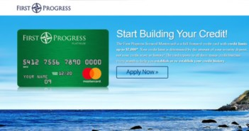 First Progress Elite Card Application page