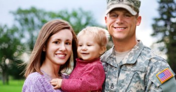 Military Service Member with Family