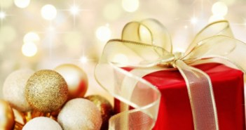 Christmas ornaments and presents