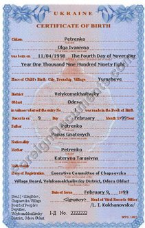 Birth certificate translation for USCIS