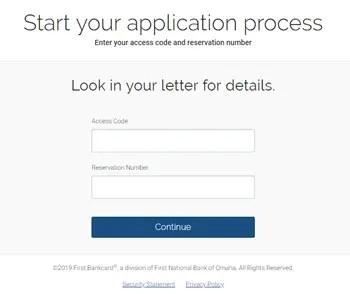 Firstbankcard.com/apply screenshot