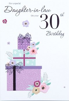 Daughter In Law 30th Birthday Card – Crediton Card Centre